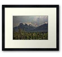 Mountain Rays Framed Print