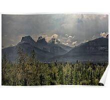 Mountain Rays Poster