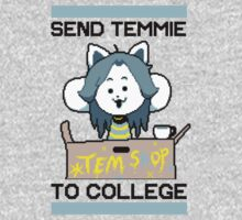 Send Temmie To College! Kids Tee