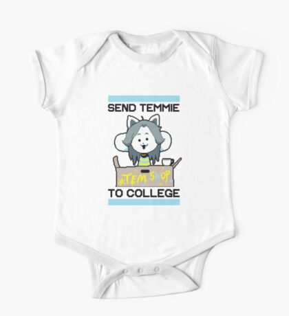 Send Temmie To College! One Piece - Short Sleeve
