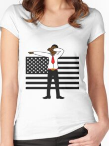Martin Luther King Jr DAB Clothing (BLACK HISTORY MONTH) Women's Fitted Scoop T-Shirt