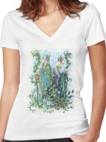 Kings of Seelie and Unseelie Courts Women's Fitted V-Neck T-Shirt