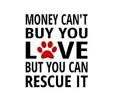 Money Can't Buy You Love But You Can Rescue It Photographic Print