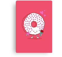The Donut Valentine Canvas Print