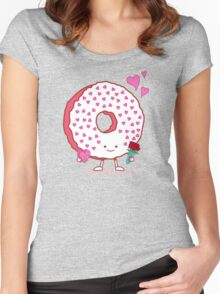 The Donut Valentine Women's Fitted Scoop T-Shirt