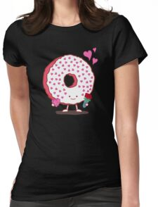 The Donut Valentine Womens Fitted T-Shirt