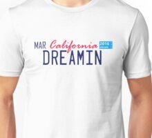 California Dreamin License Plate   Unisex T-Shirt