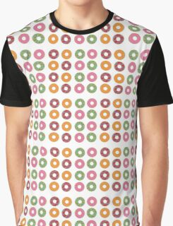 Cute Donuts Pattern Graphic T-Shirt