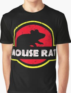 Mouse Rat Distressed Graphic T-Shirt