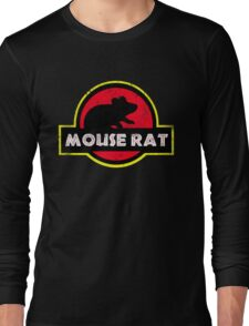 Mouse Rat Distressed Long Sleeve T-Shirt