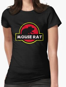 Mouse Rat Distressed Womens Fitted T-Shirt