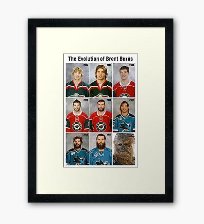 The Evolution of Brent Burns Framed Print