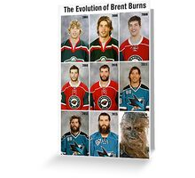 The Evolution of Brent Burns Greeting Card