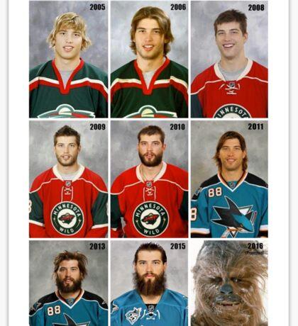 The Evolution of Brent Burns Sticker