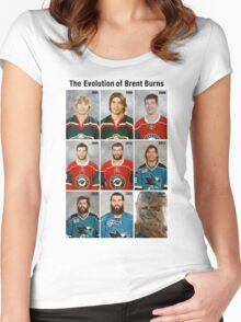 The Evolution of Brent Burns Women's Fitted Scoop T-Shirt