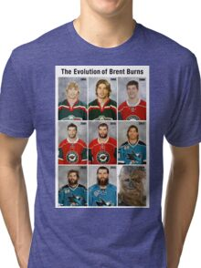 The Evolution of Brent Burns Tri-blend T-Shirt