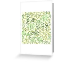 Green Underwater Seaweed Garden Pattern Greeting Card