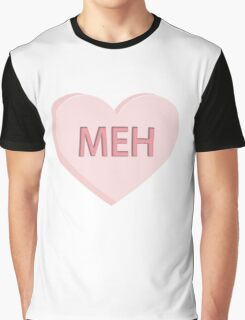 Candy Heart Meh Graphic T-Shirt
