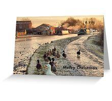 Frozen Lancaster Canal Dec 2010 Greeting Card