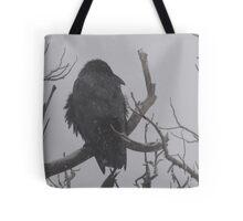 Snowstorm Raven Tote Bag