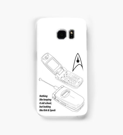 Flip Cell Phone, Spok & Kerk, Star Trek Samsung Galaxy Case/Skin