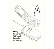 Flip Cell Phone, Spok & Kerk, Star Trek Art Print