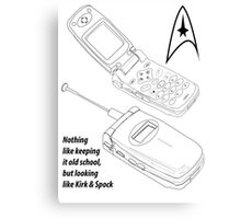 Flip Cell Phone, Spok & Kerk, Star Trek Canvas Print