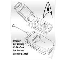 Flip Cell Phone, Spok & Kerk, Star Trek Poster