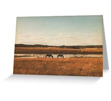 Vintage Horses Greeting Card