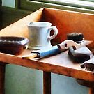 Shaving Mug, Razor and Brushes by Susan Savad