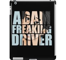 Adam Driver Text Design 2 iPad Case/Skin