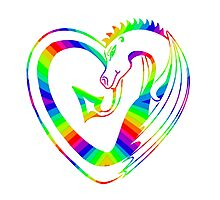 Rainbow dragon heart Photographic Print