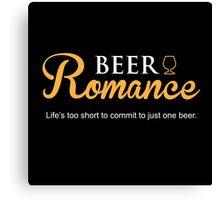 Beer Romance Canvas Print