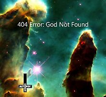 God Not Found - Creation Pillars Nebulae by GodsAutopsy