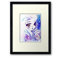 White Debris Framed Print