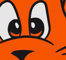 dog cat comic funny laugh sweet orange face head Sticker