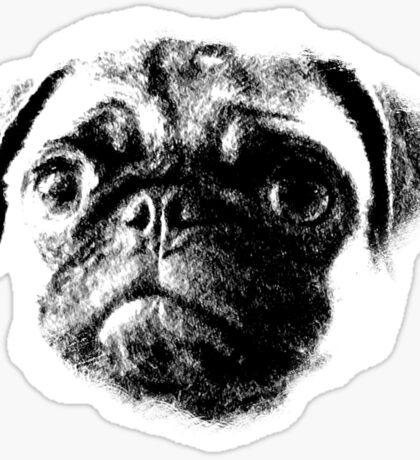 Tough Life Pug Sticker