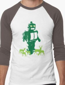 Robots and Nature II Men's Baseball ¾ T-Shirt