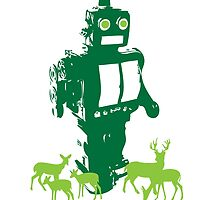 Robots and Nature II by overseercorp