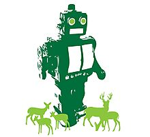 Robots and Nature II Photographic Print