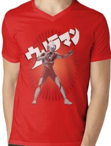UltraMan Japanese Fun Time Mens V-Neck T-Shirt