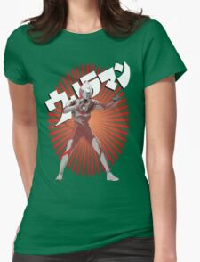 UltraMan Japanese Fun Time Womens Fitted T-Shirt