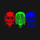 See No Evil , Speak No Evil , Hear No Evil Skulls by Stove  Aya