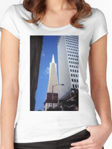 San Francisco - Transamerica Pyramid Building Women's Fitted Scoop T-Shirt