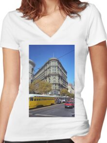 San Francisco 2007 Women's Fitted V-Neck T-Shirt