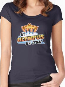 In Olympus We Trust Women's Fitted Scoop T-Shirt