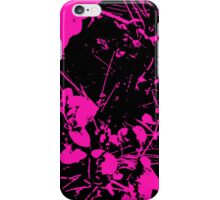 Abstract Pink and Black iPhone Case/Skin