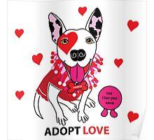 Theresa Pit bull Princess of Love Poster