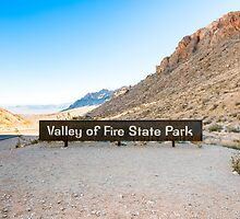 Valley of Fire State Park, Nevada. Entrance sign  by PhotoStock-Isra