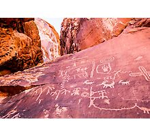 Petroglyphs at Valley of Fire State Park, Nevada Photographic Print